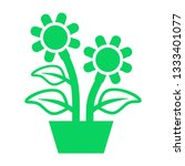plant and sprout growing icons... | Shutterstock .eps vector #1333401077