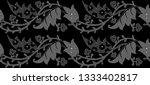 seamless black and white leaves ... | Shutterstock . vector #1333402817