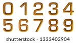 gold alphabet  letters  numbers ... | Shutterstock . vector #1333402904