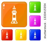 stone beacon icons set... | Shutterstock .eps vector #1333415354