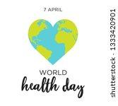 poster for 7 april  world... | Shutterstock .eps vector #1333420901