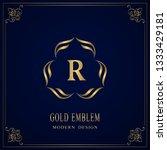 gold monogram. letter r....   Shutterstock .eps vector #1333429181