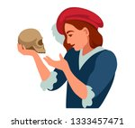 Hamlet With A Skull In His...