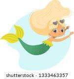 mermaid beautiful girl sea... | Shutterstock .eps vector #1333463357