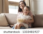 happy young mom and child girl... | Shutterstock . vector #1333481927