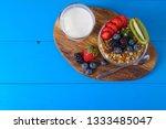muesli with berries and fruits... | Shutterstock . vector #1333485047