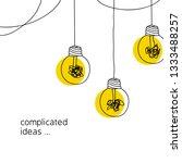 no creativity complicated idea... | Shutterstock .eps vector #1333488257