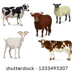 Farm Or Barn Animals Vector