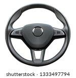 a black wheel on white... | Shutterstock . vector #1333497794