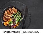 fried slices of beef  sweet... | Shutterstock . vector #1333508327
