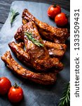 grilled barbecue ribs pork with ...   Shutterstock . vector #1333509431