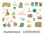 travel illustrations doodle...   Shutterstock . vector #1333519331