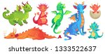fairy dragons. funny fairytale... | Shutterstock . vector #1333522637