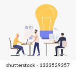 light bulb and professional... | Shutterstock .eps vector #1333529357