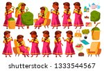 indian old woman poses set...   Shutterstock .eps vector #1333544567