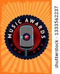 music awards vector poster.... | Shutterstock .eps vector #1333562237