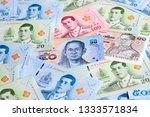 thailand 50 bath note closeup | Shutterstock . vector #1333571834