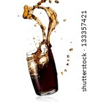 cola splash from a glass | Shutterstock . vector #133357421