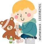 illustration of a kid boy... | Shutterstock .eps vector #1333582901