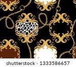 hand drawn baroque striped...   Shutterstock .eps vector #1333586657