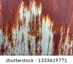 grunge zinc wall background. | Shutterstock . vector #1333619771