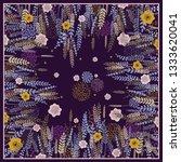 design scarf in vintage style.... | Shutterstock .eps vector #1333620041