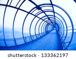 Blue Covered Air Bridge. Mosco...
