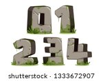 jungle font numbers part 1 | Shutterstock .eps vector #1333672907