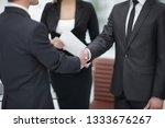 close up.handshake business... | Shutterstock . vector #1333676267