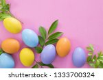 multi color easter eggs... | Shutterstock . vector #1333700324