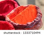 indian colorful powder  abir ... | Shutterstock . vector #1333710494