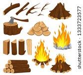 Firewood Boards. Fireplace Fire ...