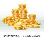 golden coins pile. gold coin... | Shutterstock .eps vector #1333723601