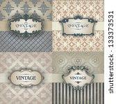vintage frame | Shutterstock .eps vector #133373531