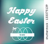 Happy Easter card on soft colored background - stock vector