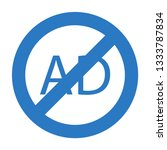 ad not allowed glyph double... | Shutterstock .eps vector #1333787834