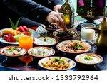 iftar or suhoor served in... | Shutterstock . vector #1333792964