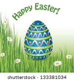 happy easter card | Shutterstock .eps vector #133381034