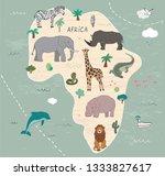 animals of africa illustrations ...   Shutterstock .eps vector #1333827617