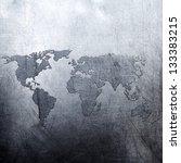 metal background world map | Shutterstock . vector #133383215