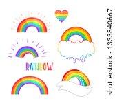 rainbow colored icon. gay pride.... | Shutterstock .eps vector #1333840667