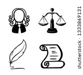 symbol of law and justice.... | Shutterstock .eps vector #1333869131