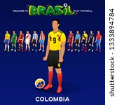 football player of colombia and ... | Shutterstock .eps vector #1333894784