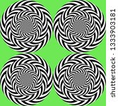 optical illusion  moving effect ... | Shutterstock .eps vector #1333903181
