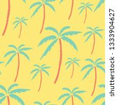 palm tree pattern on yellow... | Shutterstock .eps vector #1333904627