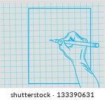 doodle hand writes | Shutterstock .eps vector #133390631