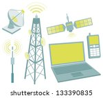 telecommunication equipment...   Shutterstock .eps vector #133390835