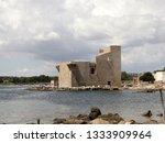 tonnara and swabian tower in...   Shutterstock . vector #1333909964