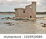 tonnara and swabian tower in...   Shutterstock . vector #1333910084