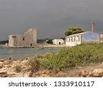 tonnara and swabian tower in...   Shutterstock . vector #1333910117